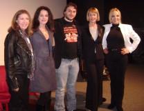 Com Helena Ramos, Zilda Mayo, Aldine Muller e Neide Ribeiro, após debate Mulheres da Boca, no MIS, em ago/12