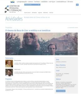 Palestra O Cinema da Boca do Lixo, CPF/SESC, mai/14